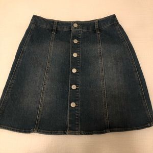 Mossimo button down jean skirt